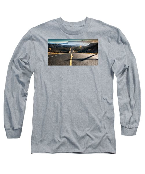 Highway 170 To Big Bend Long Sleeve T-Shirt by Allen Biedrzycki