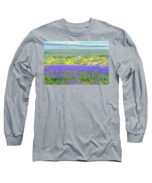 Hike To The Top Of Temblor Range Long Sleeve T-Shirt by Marc Crumpler