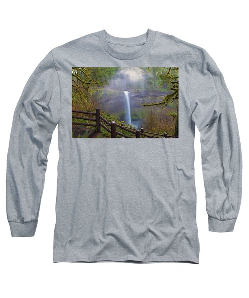 Hiking Trails At Silver Falls State Park Long Sleeve T-Shirt