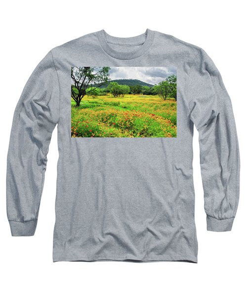 Hill Country Wildflowers Long Sleeve T-Shirt by Lynn Bauer