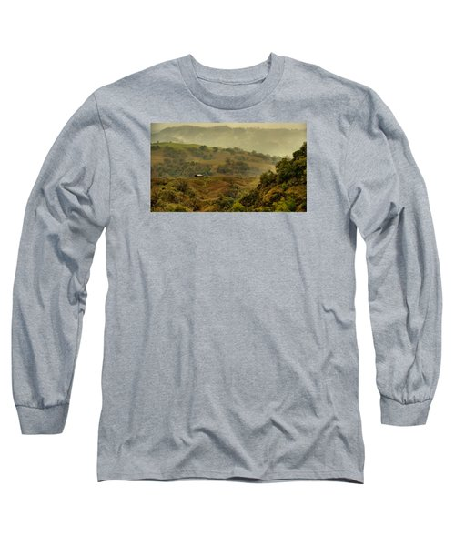 Hills Above Anderson Valley Long Sleeve T-Shirt by Josephine Buschman