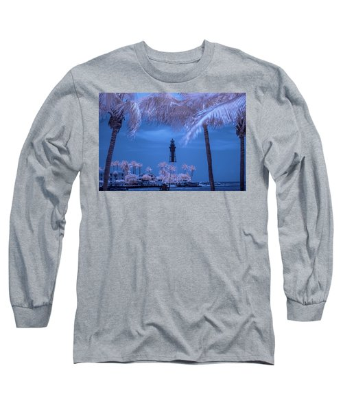 Long Sleeve T-Shirt featuring the photograph Hillsboro Inlet Lighthouse Infrared by Louis Ferreira