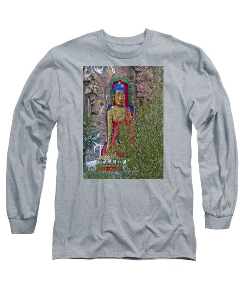 Long Sleeve T-Shirt featuring the photograph Hillside Buddha by Alan Toepfer