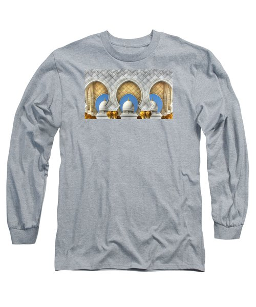 Hindu Temple Long Sleeve T-Shirt by John Swartz