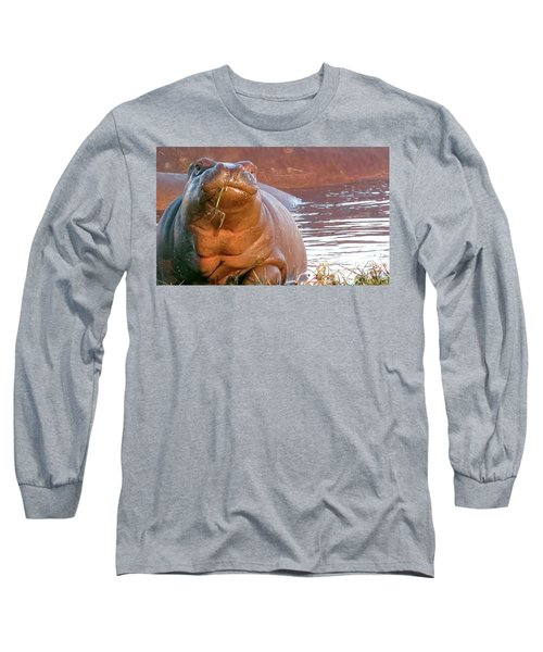 Hippo Snacks Long Sleeve T-Shirt