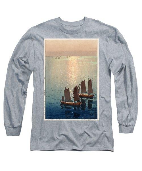 Hiroshi Yoshida, Hikaru Umi, The Sparkling Sea, 1926 Long Sleeve T-Shirt