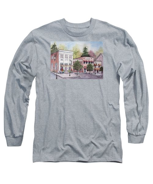 Long Sleeve T-Shirt featuring the painting Historic Blue Ridge, Georgia by Gretchen Allen