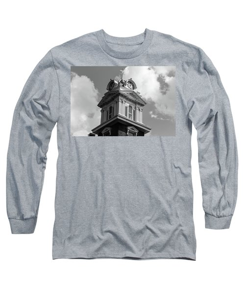 Historic Courthouse Steeple In Bw Long Sleeve T-Shirt