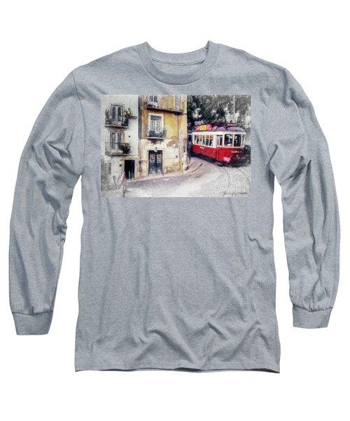 Historic Lisbon Tram Long Sleeve T-Shirt