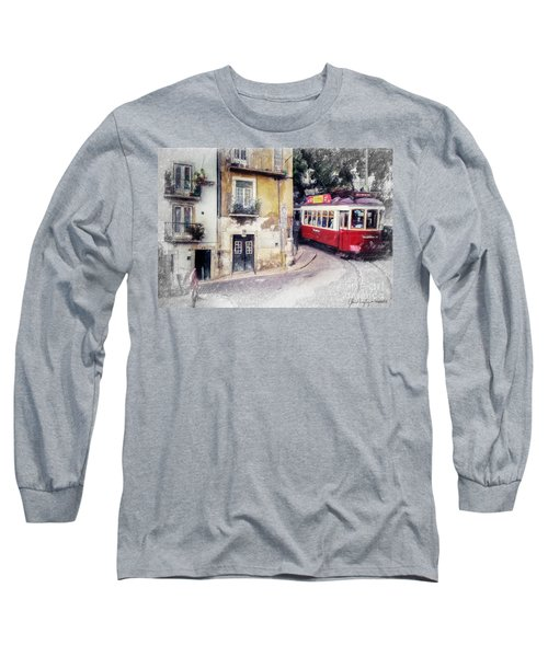 Historic Lisbon Tram Long Sleeve T-Shirt