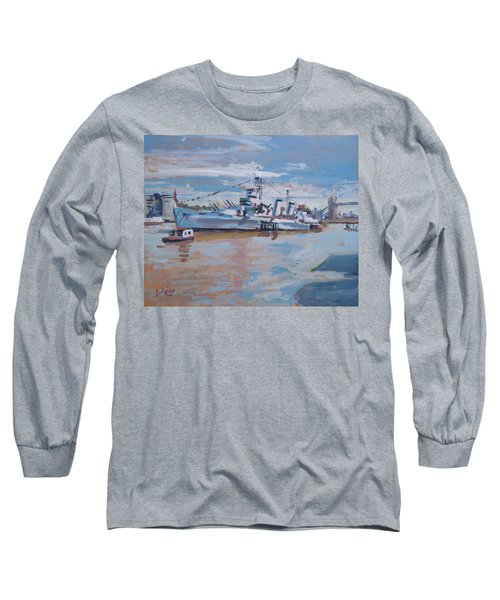 Hms Belfast Shows Off In The Sun Long Sleeve T-Shirt