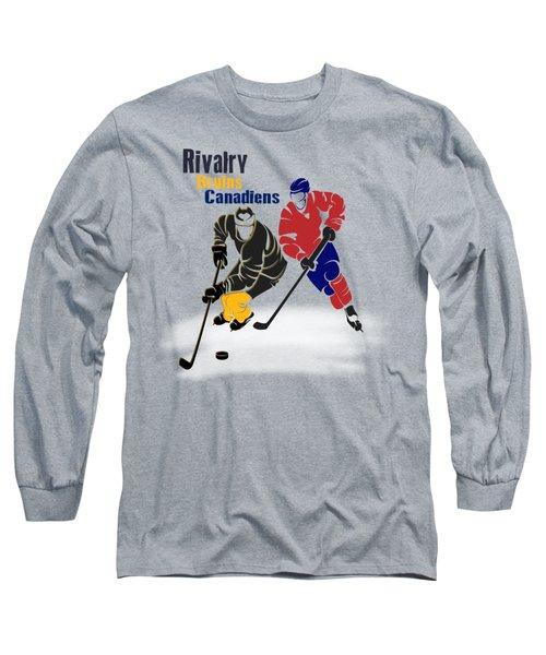 Hockey Rivalry Bruins Canadiens Shirt Long Sleeve T-Shirt