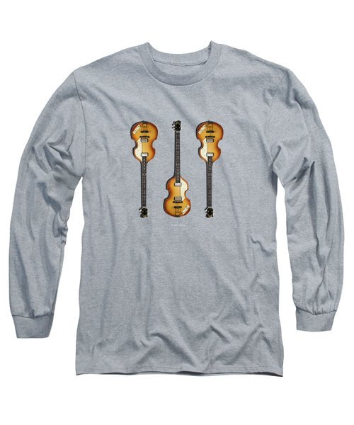 Hofner Violin Bass 62 Long Sleeve T-Shirt by Mark Rogan