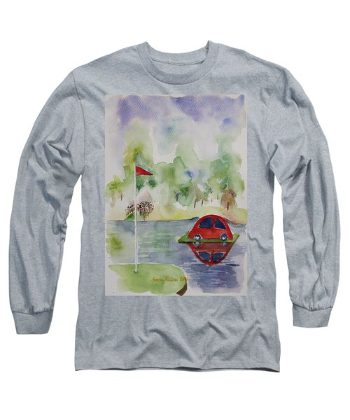 Hole In One Prize Long Sleeve T-Shirt by Geeta Biswas