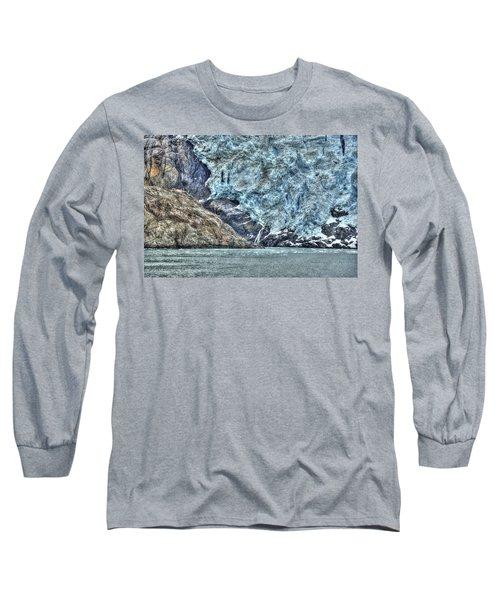 Holgate Glacier Hdr Long Sleeve T-Shirt by Richard J Cassato