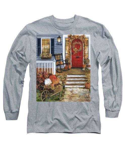 Pumpkin Porch Long Sleeve T-Shirt