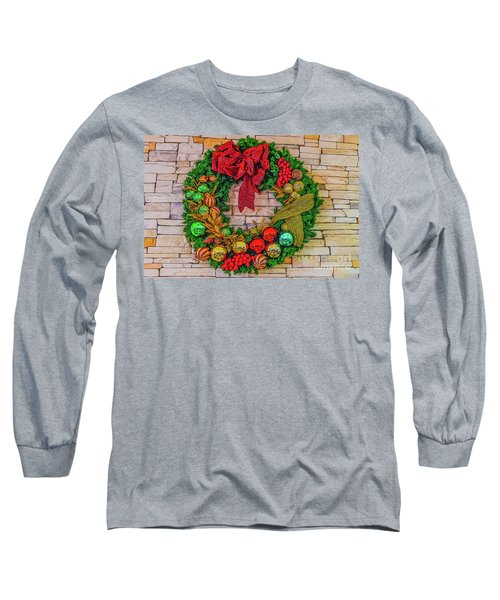 Holiday Wreath Long Sleeve T-Shirt