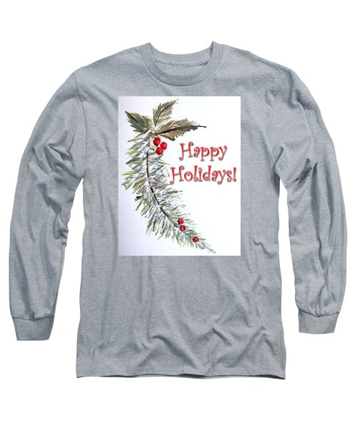 Holidays Card - 3 Long Sleeve T-Shirt