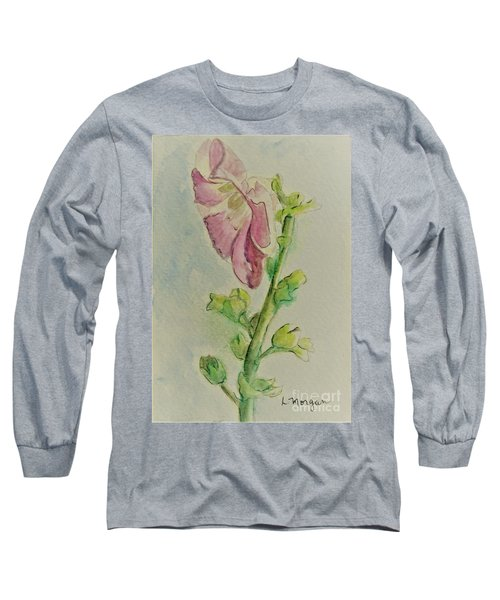 Hollyhock The Harbinger Of Summer Long Sleeve T-Shirt