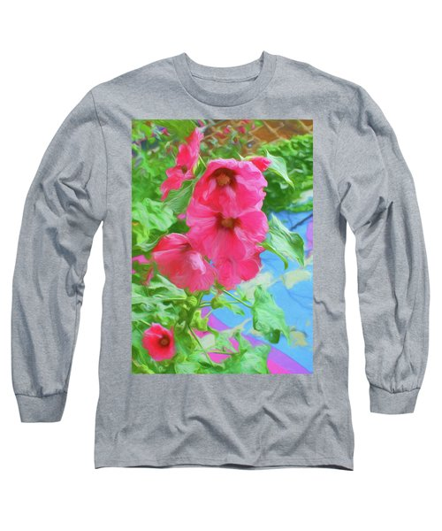 Hollyhocks - 3 Long Sleeve T-Shirt