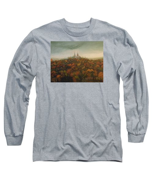 Long Sleeve T-Shirt featuring the painting Holy Hill Rain Storm by Dan Wagner