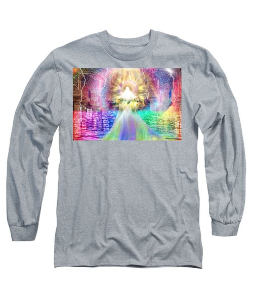 Long Sleeve T-Shirt featuring the digital art Holy Holy Holy by Dolores Develde