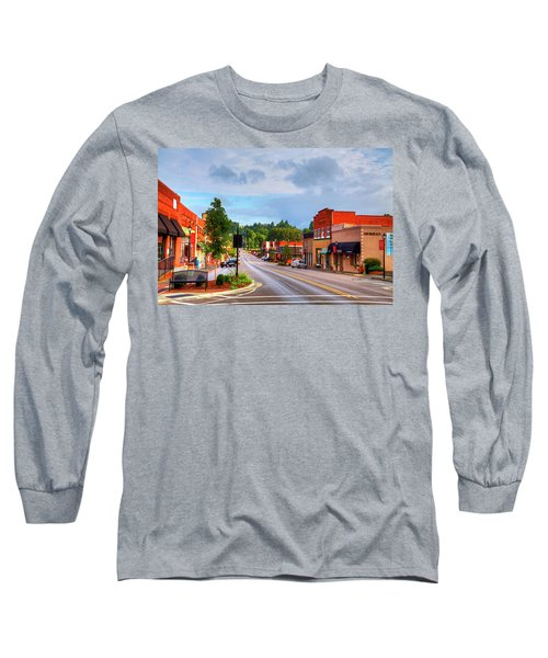 Hometown America Long Sleeve T-Shirt by Dale R Carlson