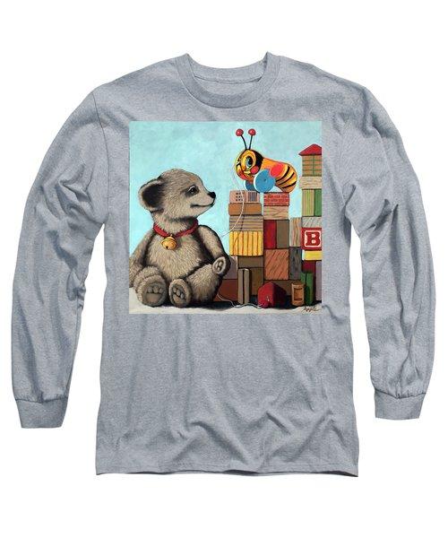 Honey Bear - Vintage Toys Long Sleeve T-Shirt