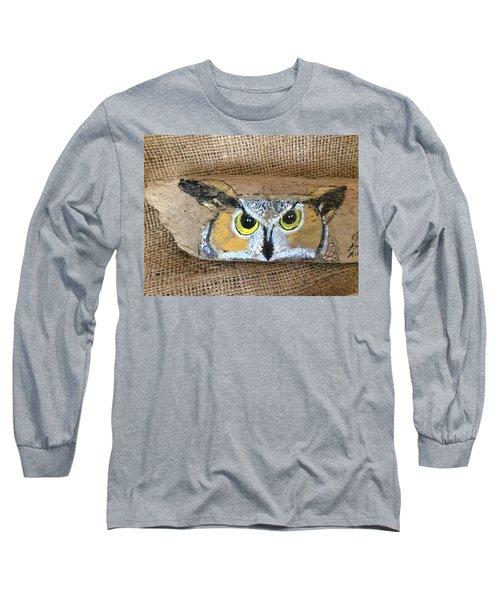 Hoot Owl Long Sleeve T-Shirt by Ann Michelle Swadener