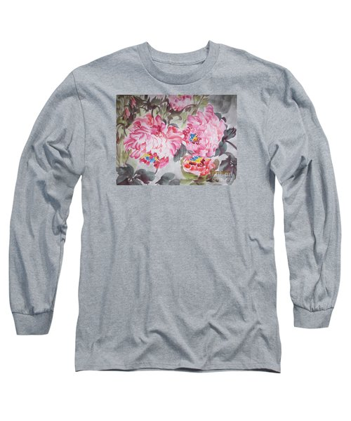 Long Sleeve T-Shirt featuring the painting Hop08012015-693 by Dongling Sun