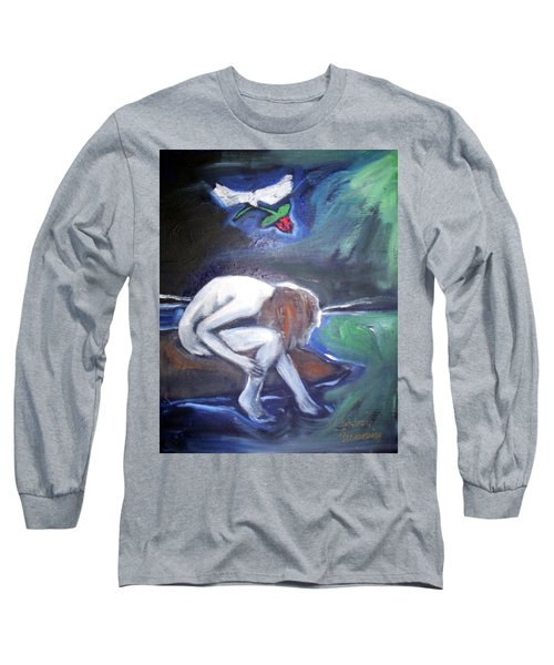 Long Sleeve T-Shirt featuring the painting Hope  by Winsome Gunning
