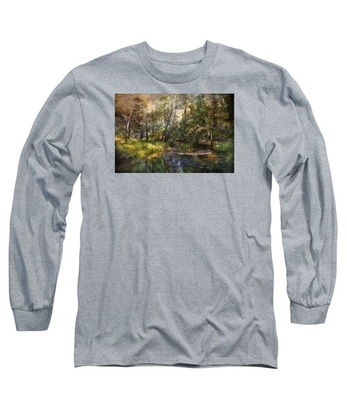 Hopkins Pond, Haddonfield, N.j. Long Sleeve T-Shirt by John Rivera