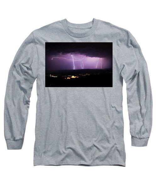 Horizontal And Vertical Lightning Long Sleeve T-Shirt