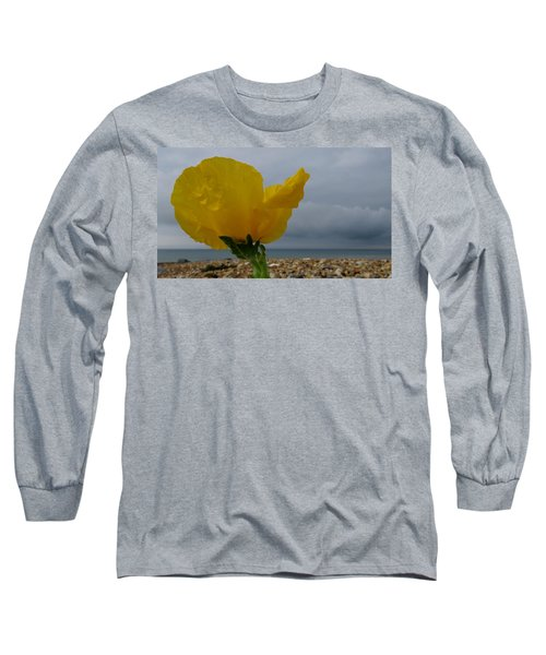 Horned Poppy By The Sea Long Sleeve T-Shirt