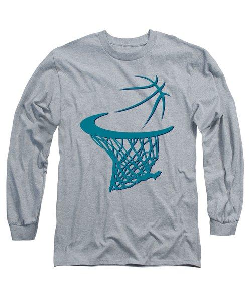 Hornets Basketball Hoop Long Sleeve T-Shirt