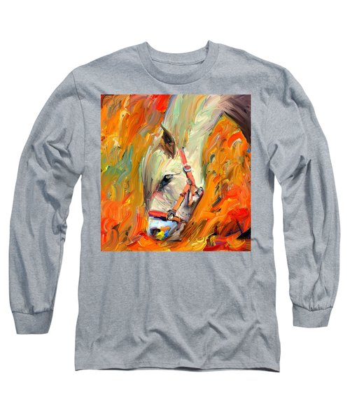 Horse And Grass Long Sleeve T-Shirt