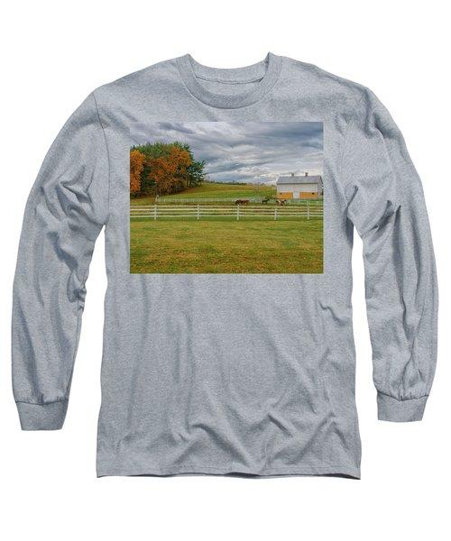 Horse Barn In Ohio  Long Sleeve T-Shirt