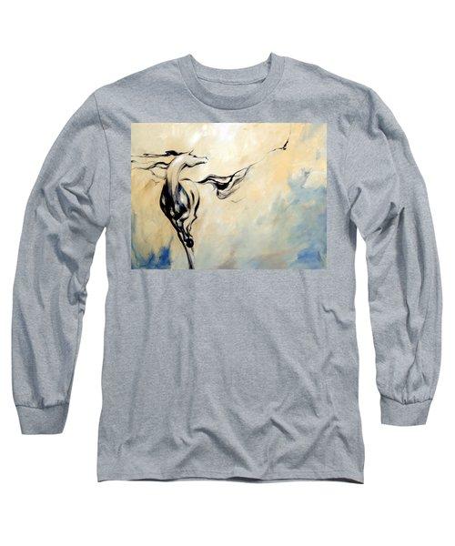 Horse Calling Crow Long Sleeve T-Shirt
