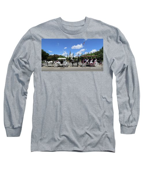 Long Sleeve T-Shirt featuring the photograph Horse Carriages by Steven Spak