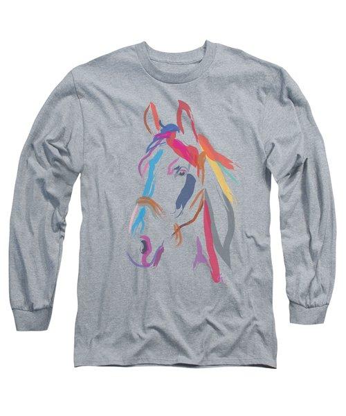Horse Colour Me Beautiful In Ecru Long Sleeve T-Shirt