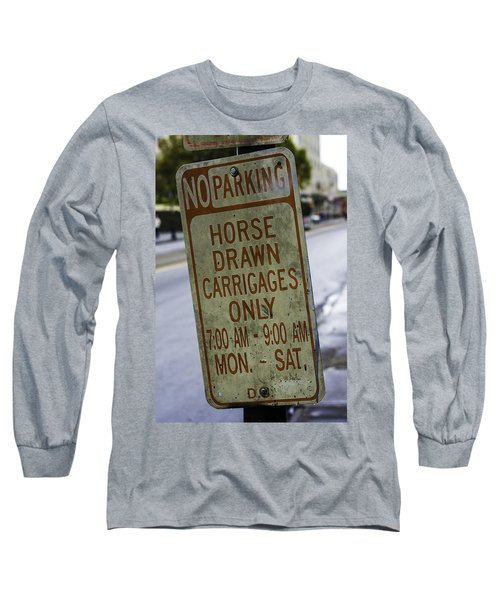 Horse Drawn Carriage Parking Long Sleeve T-Shirt