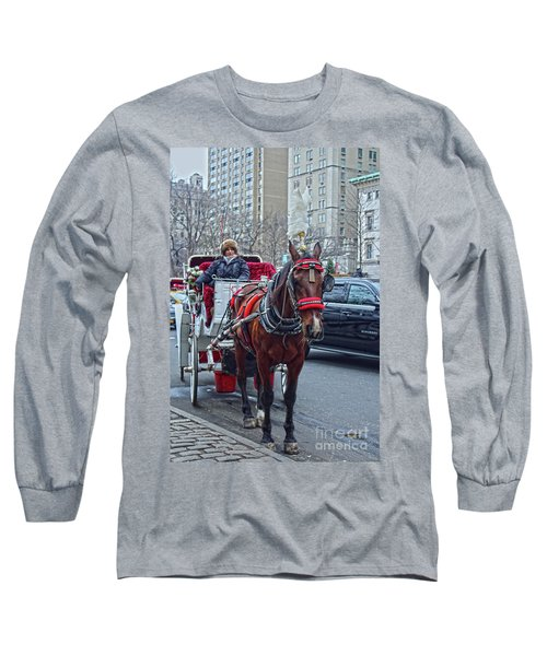 Horse Power Long Sleeve T-Shirt by Sandy Moulder
