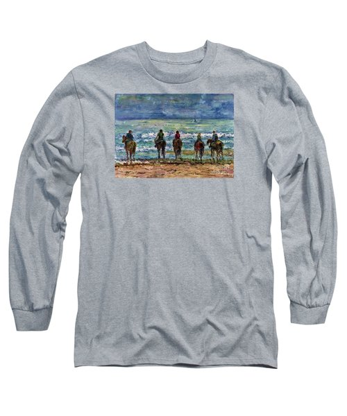 Horseback Beach Memories Long Sleeve T-Shirt