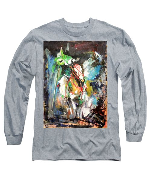 Horse,horseman And The Target Long Sleeve T-Shirt