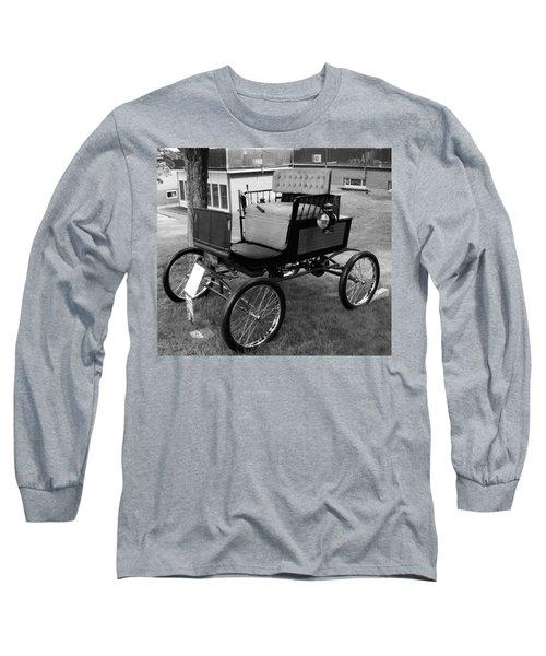 Horseless Carriage-bw Long Sleeve T-Shirt