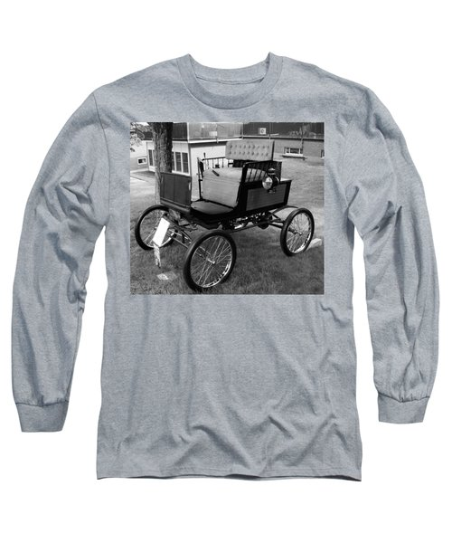 Horseless Carriage-bw Long Sleeve T-Shirt