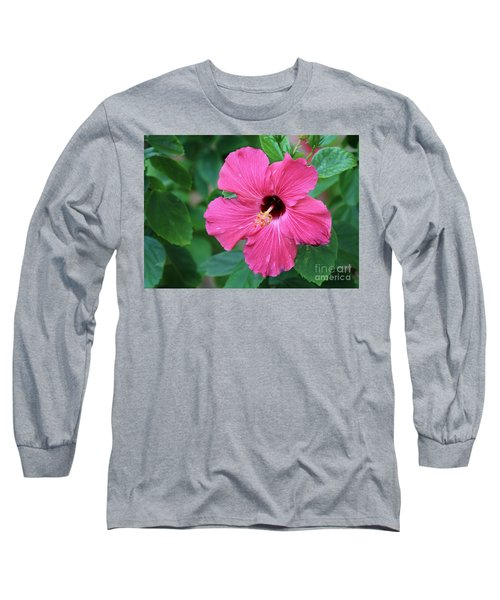 Hot Pink  Long Sleeve T-Shirt