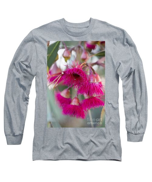 Long Sleeve T-Shirt featuring the photograph Hot Pink by Linda Lees
