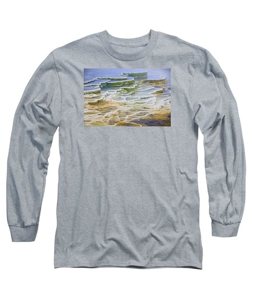 Long Sleeve T-Shirt featuring the photograph Hot Springs Runoff by Gary Lengyel