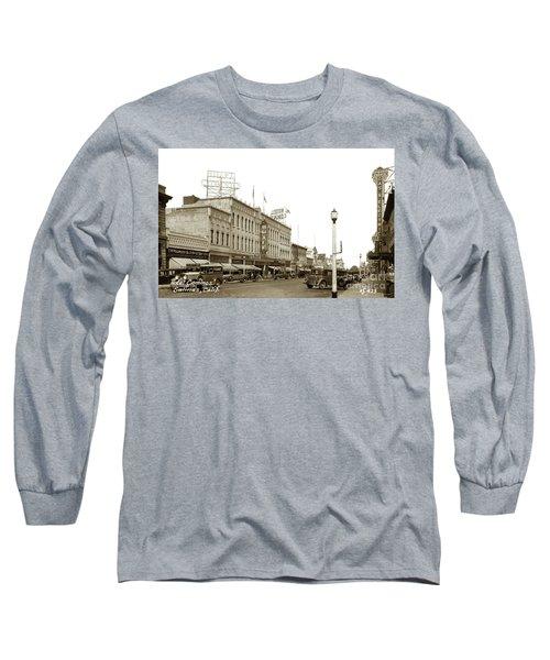 Hotel Cominos On Main Street In Salinas, Calif. Circa 1932 Zan Stark Photo # 423  Long Sleeve T-Shirt